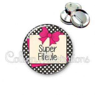 Badge 56mm Super filleule (065GRI01)