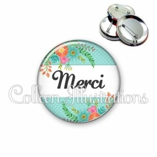 Badge 56mm Merci (066VER02)