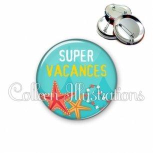 Badge 56mm Super vacances (069BLE01)