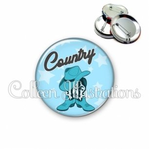 Badge 56mm Danse country (071BLE01)
