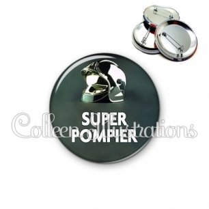 Badge 56mm Super pompier (072VER01)