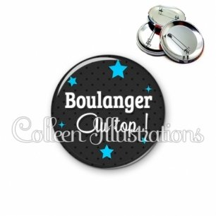 Badge 56mm Boulanger au top (073GRI01)