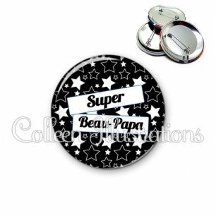 Badge 56mm Super beau-papa (077NOI01)