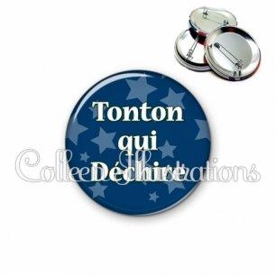 Badge 56mm Tonton qui déchire (078BLE02)