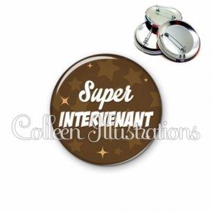 Badge 56mm Super intervenant (078MAR01)