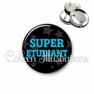 Badge 56mm Super étudiant (078NOI01)
