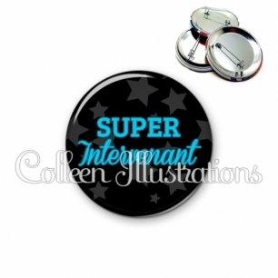 Badge 56mm Super intervenant (078NOI01)