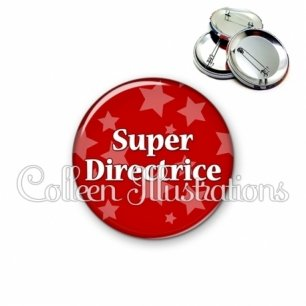 Badge 56mm Super directrice (078ROU01)