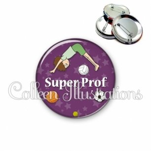 Badge 56mm Super prof (078VIO03)