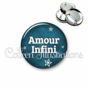 Badge 56mm Amour infini (079BLE01)