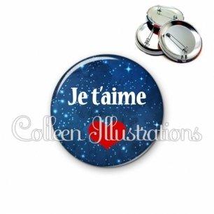 Badge 56mm Je t'aime (080BLE01)