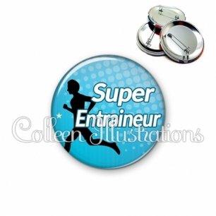 Badge 56mm Super entraineur (082BLE01)