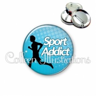 Badge 56mm Sport addict (082BLE01)