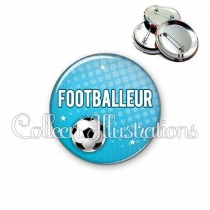 Badge 56mm Footballeur (082BLE02)