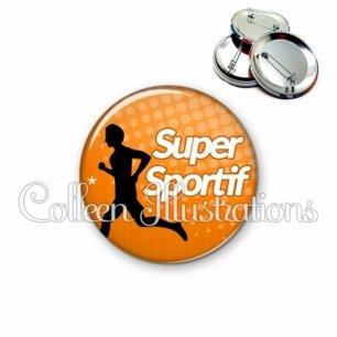 Badge 56mm Super sportif (082ORA01)