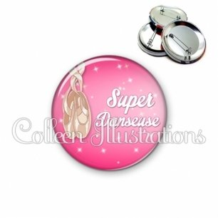 Badge 56mm Super danseuse (083ROS06)