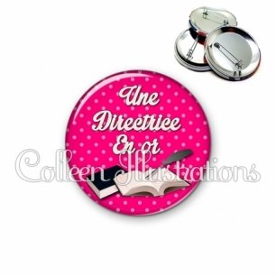 Badge 56mm Directrice en or (087ROS06)