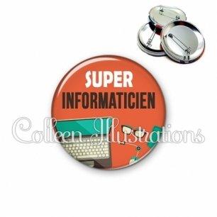 Badge 56mm Super informaticien (088ORA01)
