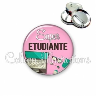 Badge 56mm Super étudiante (088ROS01)