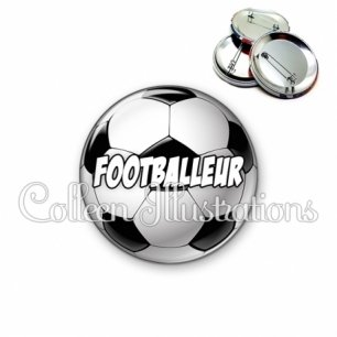 Badge 56mm Footballeur (089MUL01)