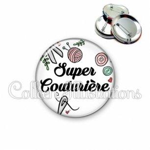 Badge 56mm Super couturière (091BLA01)