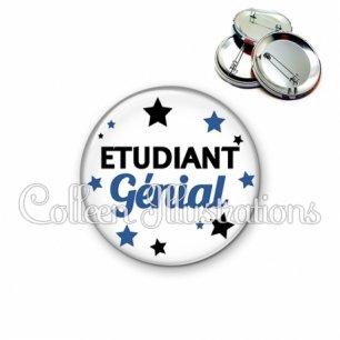 Badge 56mm Etudiant génial (092BLA01)