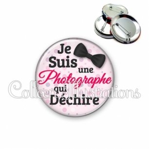 Badge 56mm Photographe qui déchire (093ROS01)