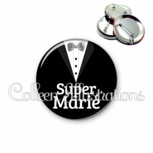 Badge 56mm Super marié (098NOI01)