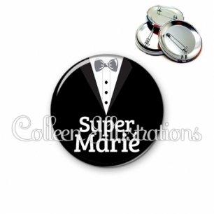 Badge 56mm Super marié (098NOI01)
