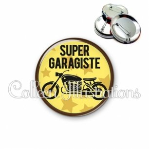 Badge 56mm Super garagiste (100JAU01)