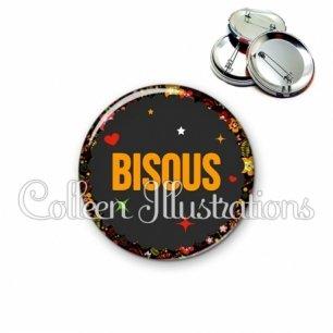 Badge 56mm Bisous (101NOI01)