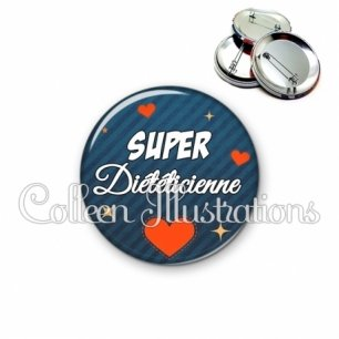 Badge 56mm Super diététicienne (103BLE01)