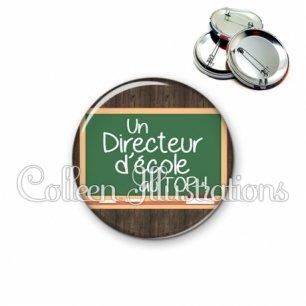 Badge 56mm Directeur d'école au top (104MAR01)