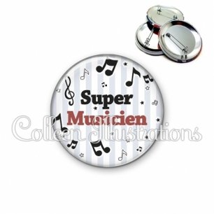 Badge 56mm Super musicien (108GRI01)