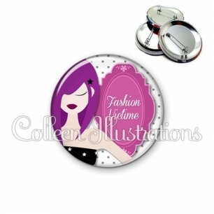 Badge 56mm Fashion victime (110BLA01)