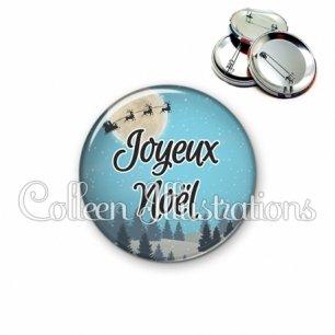 Badge 56mm Joyeux Noël (112BLE01)