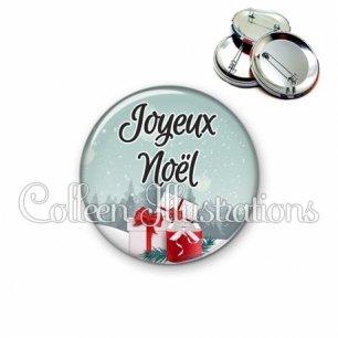Badge 56mm Joyeux Noël (113BLE01)