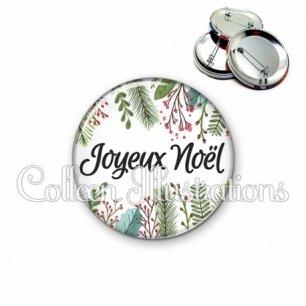 Badge 56mm Joyeux noël (114BLA01)