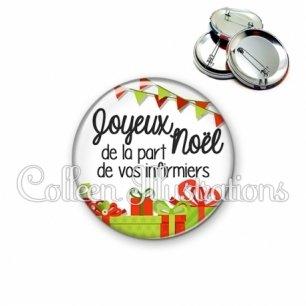 Badge 56mm Joyeux noël de la part de vos infirmiers (115BLA01)