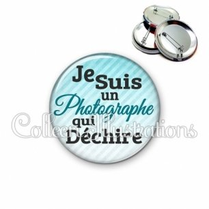Badge 56mm Photographe qui déchire (116BLE01)