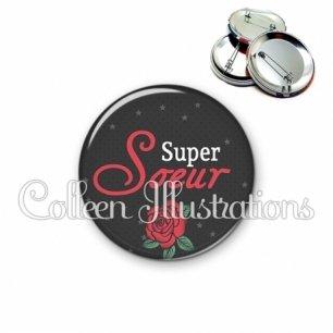 Badge 56mm Super sœur (128NOI01)