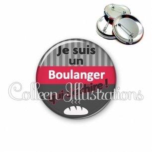 Badge 56mm Boulanger qui déchire (132GRI01)