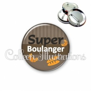 Badge 56mm Super boulanger (132MAR01)