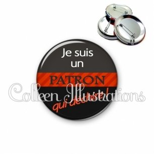 Badge 56mm Patron qui déchire (132NOI01)
