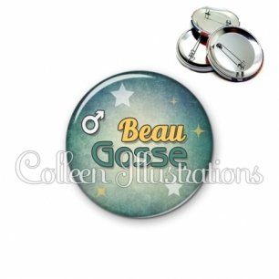 Badge 56mm Beau gosse (134VER01)