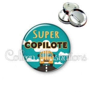 Badge 56mm Super copilote (136VER01)