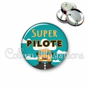 Badge 56mm Super pilote (136VER01)