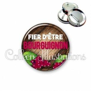 Badge 56mm Fier d'être bourguignon (137MAR03)