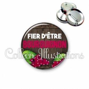 Badge 56mm Fier d'être bourguignon (137MAR04)