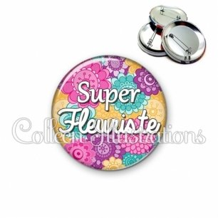Badge 56mm Super fleuriste (140MUL01)